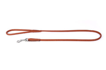 Collar Soft round leash 183cm brown