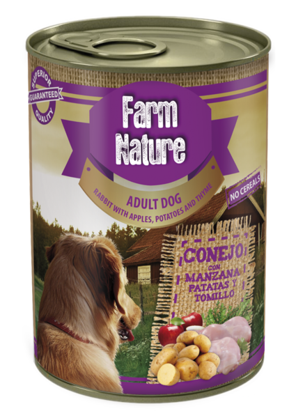 Farm Nature Rabbit With Apples, Potatoes and Thyme 400g
