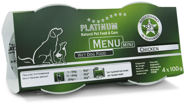 Platinum Menu mini Kyckling 4 x 100 g