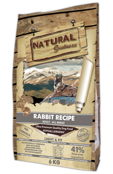 Natural Greatness Rabbit Recipe Light & Fit 6 kg