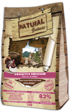 Natural Greatness Sensitive Indoor Cat Recipe 2kg